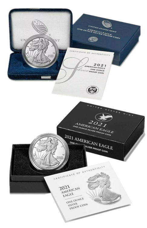 2021 Proof Silver Eagle - TYPE 2 and TYPE 1 Available!