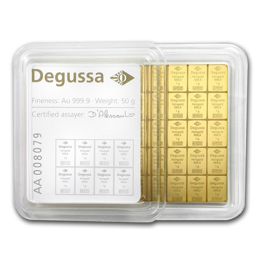 50x 1 gram Gold - Degussa