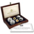 1994 6-Coin Commemorative World Cup Set BU & Proof (w/ Box & COA)