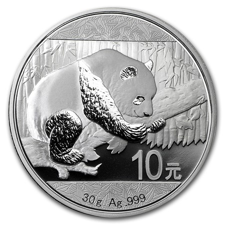 2016 Silver Chinese Panda -- REDUCED