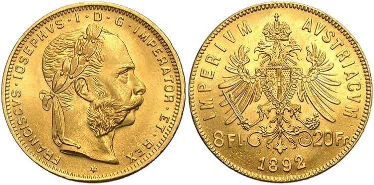 Austrian 20 Franc Gold Coins (.1867 oz gold weight) - 10% over melt value