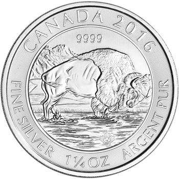 2016 1.25-Oz Silver Canadian Bison