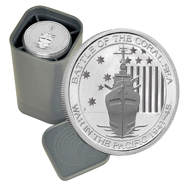1/2-oz Perth Mint Australia WWII Silver Coins Featuring the