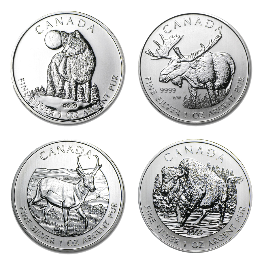Canadian Wildlife Series 1-oz Silver Coins!