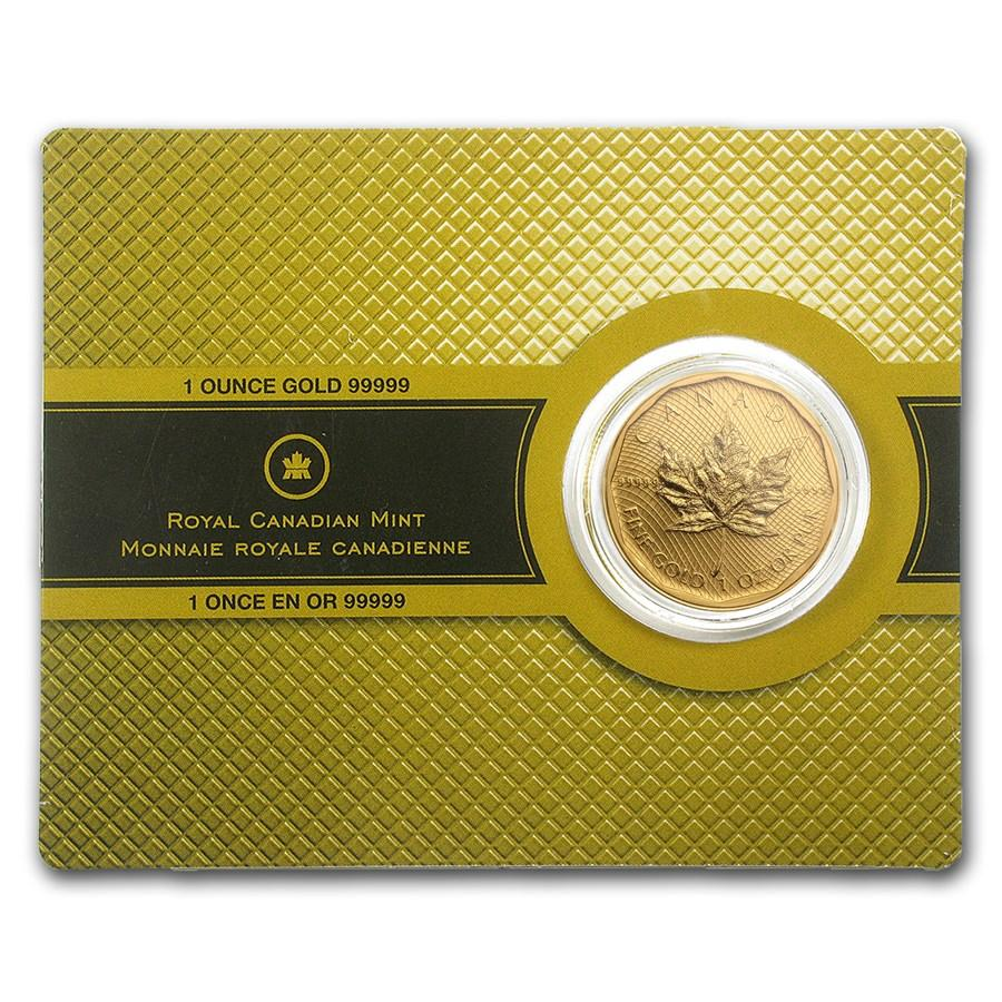 Canadian 1-oz Gold Maple Leaf, .99999 pure in Assay Card