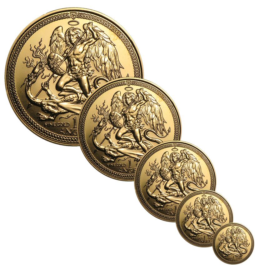Isle of Man Gold Angels (3 sizes remaining)