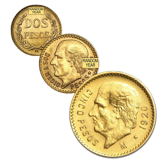 Gold Pesos (2 and 2.5) Only 4% over melt value!