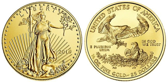 Gold American Eagle Coin - 1/2 oz