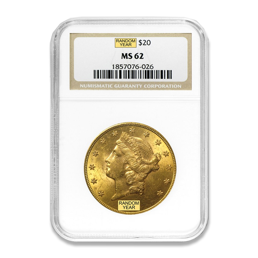 Graded $20 Gold Liberty Coins (MS-62's)