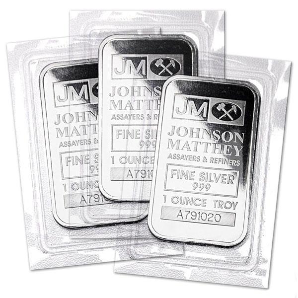 Johnson Matthey 1-oz Silver Bars