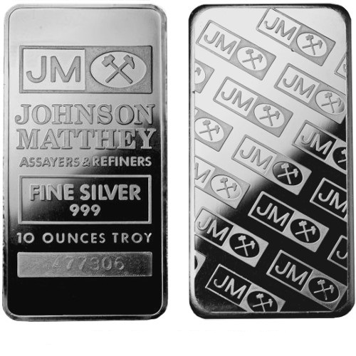 Johnson Matthey 10-oz Silver Bars