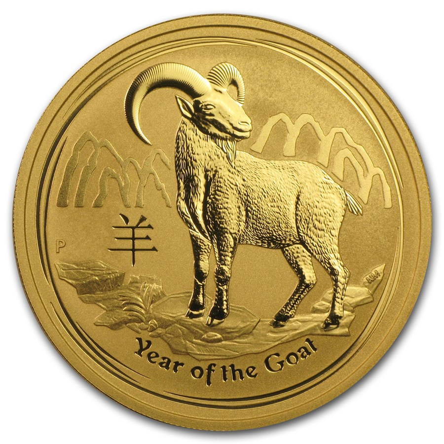 REDUCED PRICE Perth Mint Lunar Series 1-oz Gold 2015