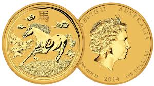 2014 1-oz Gold Perth Mint Lunar Series