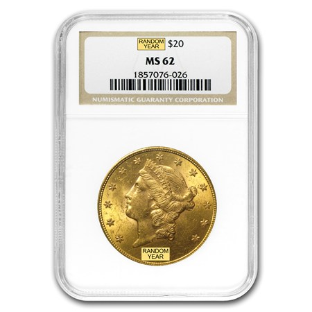 MS62 $20 U.S. Liberty Gold Coin
