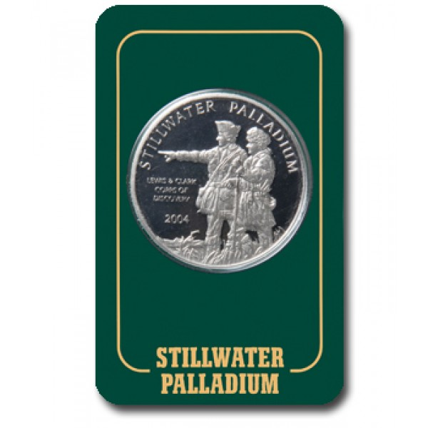 1-oz Palladium Rounds (in Assay, produced by Stillwater Mint)