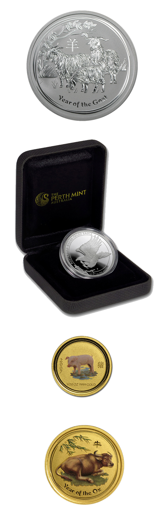 ALL ITEMS REDUCED -- Perth Mint Gold and Silver Items!