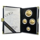 Gold Eagle 4-Coin Proof Set in mint box with certificate