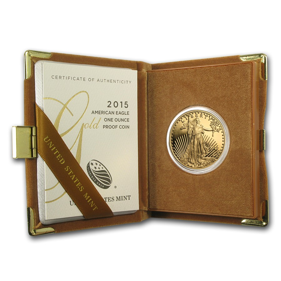 2015 1-oz Gold Eagle Proof in Box with COA