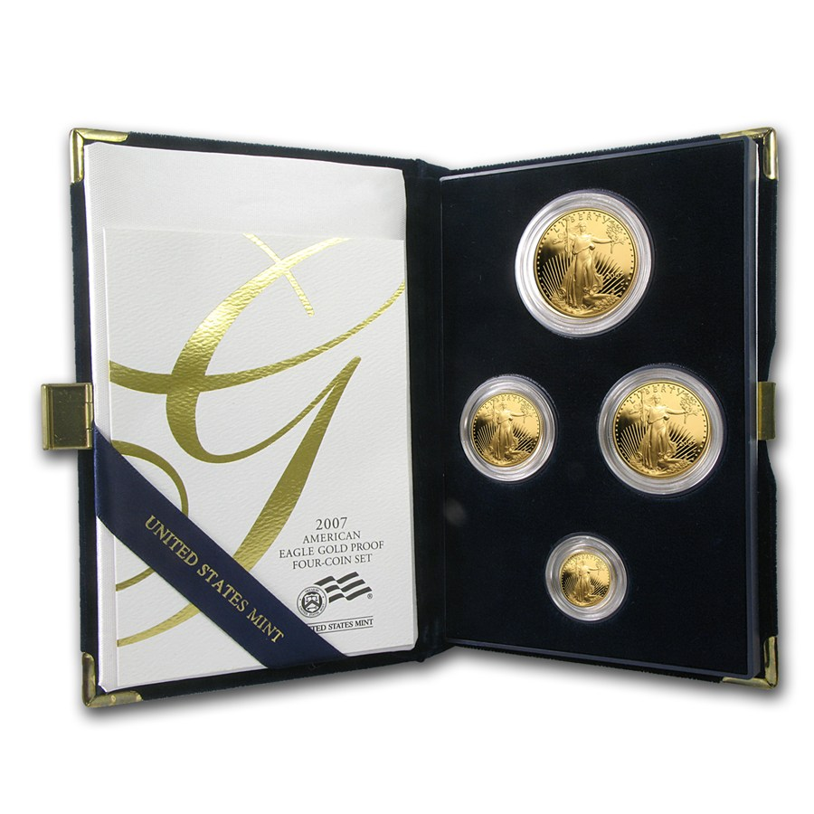 Gold Eagle Proof Sets (Random Year) in mint boxes with certificates