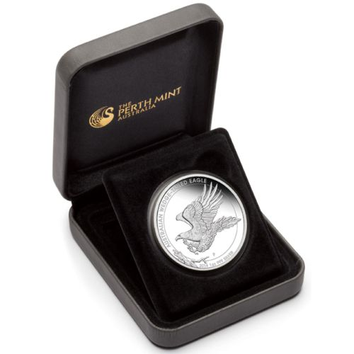 2014 1-oz Silver Wedge-Tailed Eagle (In display box)