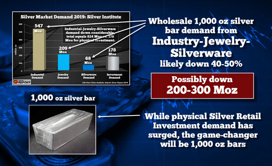 Wholesale 1,000 Silver Bars Game Changer