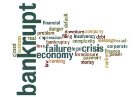 Bankrupt, Economy, Failure, and Crisis