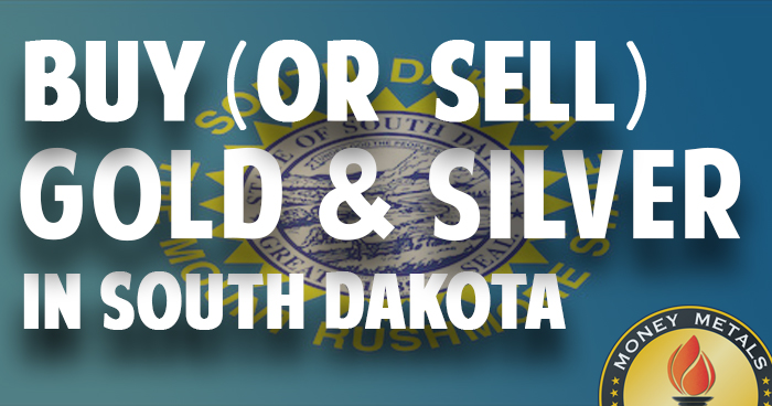 Where to Buy (or Sell) Gold & Silver in South Dakota (SD)