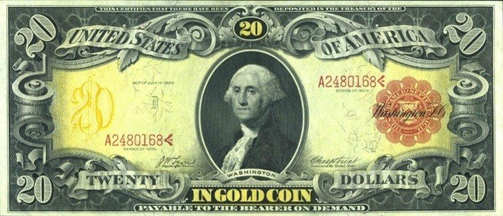 U.S. dollar backed by gold