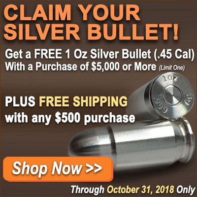 October 2018 - Free Silver Bullet Promo