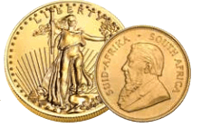 American Gold Eagles and South African Krugerrands