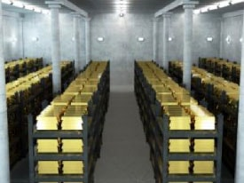 Declining gold inventory