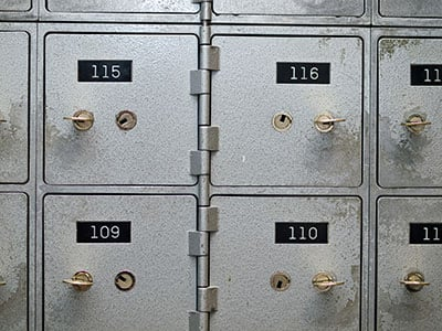 Safe-Deposit Boxes for gold and silver storage