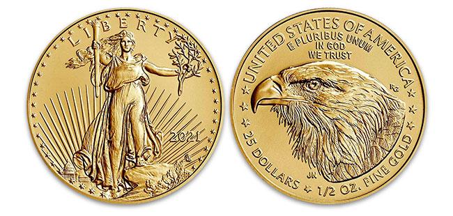 Gold American Eagle Coin - 1/2 oz