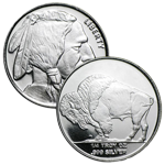1/2 Oz Buffalo Silver Rounds