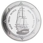 Slashed premiums on the HALF Oz New Zealand HMS Bounty Silver Coin