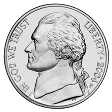2004 Jefferson Nickel