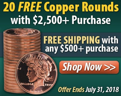 20 Free Copper Rounds