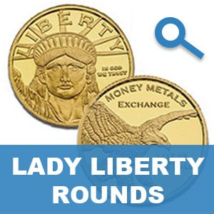 Lady Liberty Gold Rounds