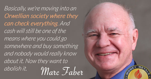 Marc Faber Orwellian Quote