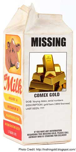 COMEX warehoues experiencing major outflow of physical gold