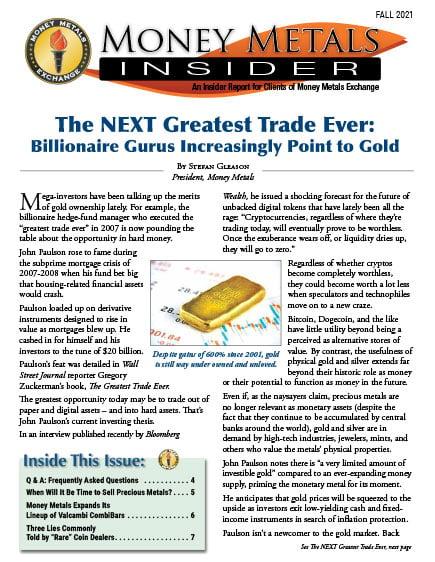Money Metals Insider - Fall 2021