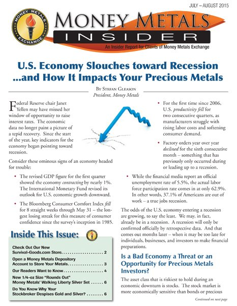 Money Metals Insider - July-August 2015