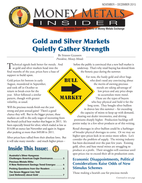 Money Metals Insider - November-December 2015