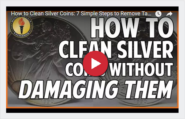 How to clean silver coins video
