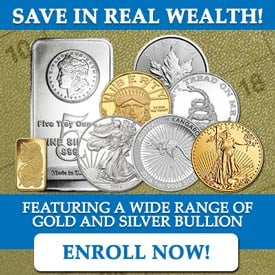 Save in Real Wealth! Enroll in the Monthly Savings Plan Today!