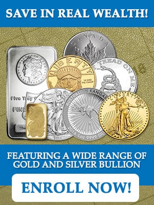 Monthly gold and silver savings plan