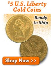 $5 U.S. Liberty Gold Coins
