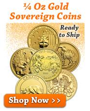 1/4 Oz Gold Sovereign Coins