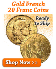 Gold French 20 Franc Coins
