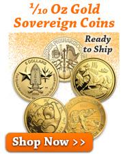 1/10 Oz Gold Sovereign Coins